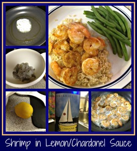 Shrimp with Lemon_Chardonel Sauce