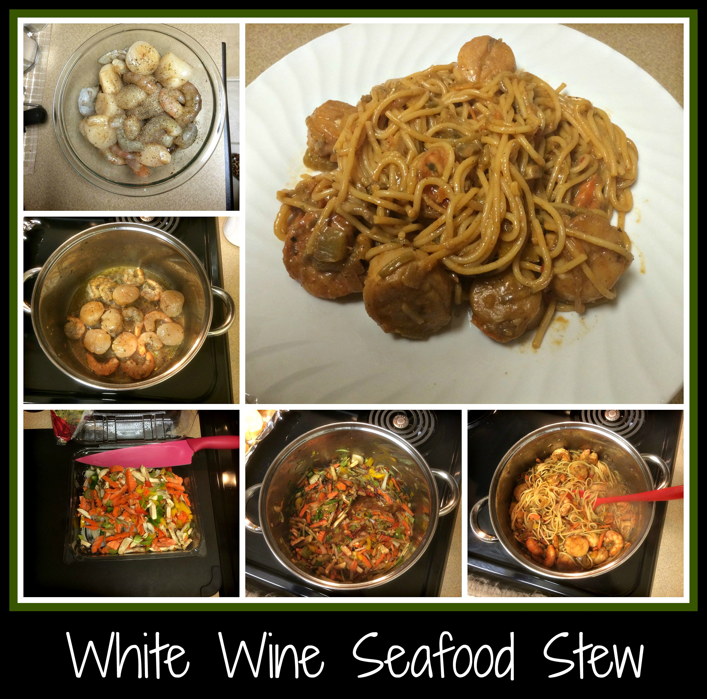One pot dinner from the bottom of a wine bottle for Recipe for seafood stew
